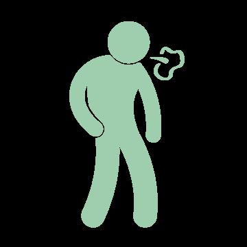 Bad breath icon