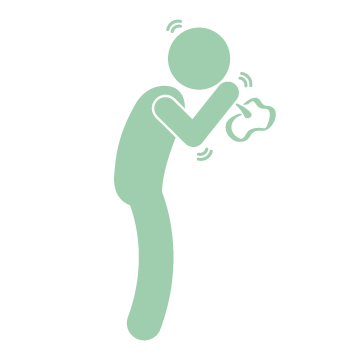 Man coughing icon